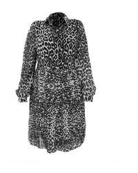LEFON New York - Leopard Print Collar Neck Lefon Dress - Lyst