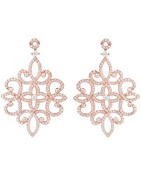 Latelita - Sherazade Earrings Rose Gold - Lyst