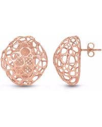Vitae Ascendere - Bubble Rose Gold Earrings - Lyst