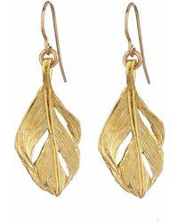 Chupi - I Can Fly Midi Swan Feather Earrings Gold - Lyst