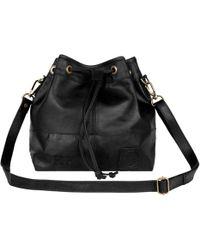 MAHI - Classic Bucket Drawstring Bag In Black Leather - Lyst