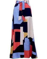 TOMCSANYI - Dark Print Maxi Skirt - Lyst