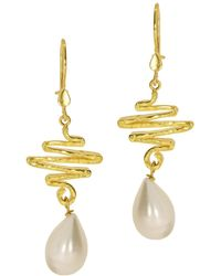 Ottoman Hands - Lifeline Pearl Drop Earrings - Lyst