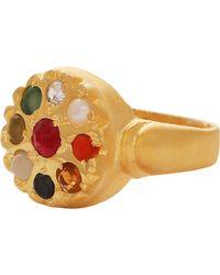 Carousel Jewels - Chakra Style Circular Statement Ring - Lyst