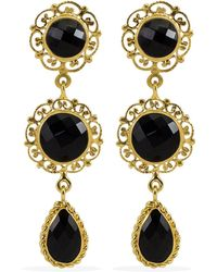 Vintouch Italy - Taormina Onyx Earrings - Lyst