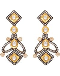 Carousel Jewels - Heritage Gold & Crystal Earrings - Lyst