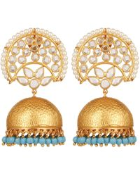 Carousel Jewels - Crystal & Turquoise Chandelier Statement Earrings - Lyst