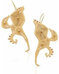 Nooneh London - Outside The Box Statement Earrings Gold - Lyst