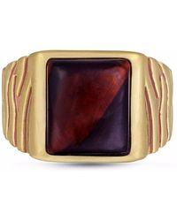 LMJ - Chatoyant Red Tiger Eye Stone Ring - Lyst