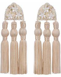 Wafa By Wafa - Cream Holly Earrings - Lyst