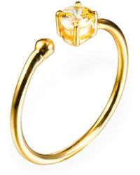 Ona Chan Jewelry - Little Jewels Open Ring Champagne & Rose Gold - Lyst