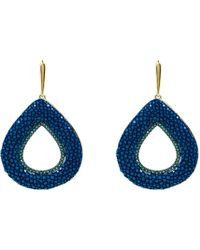 LÁTELITA London - Stingray Hollow Tear Earring Royal Blue - Lyst