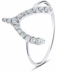 Cosanuova - Wishbone Diamond Ring 18k White Gold - Lyst