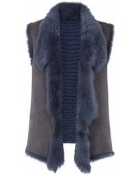Gushlow and Cole - Denim Knit Back Gilet - Lyst