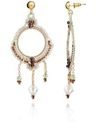 Azuni London | Nova Crochet Mandalla Earrings In Mountain | Lyst