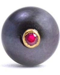 Lee Renee - Peacock Pearl & Ruby Tie Pin - Lyst