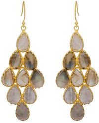 Carousel Jewels - Labradorite And Gold Statement Earrings - Lyst