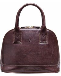 Maxwell Scott Bags - The Rosa Ladies Classic Leather Handbag Chocolate Brown - Lyst