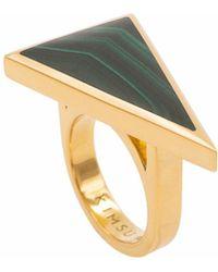 KIMSU - 18k Vermeil Gold Triangolo Ring - Lyst