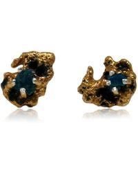 Karolina Bik Jewellery - Out Of The Sea Earrings With Raw Apatite - Lyst