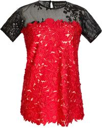Jelena Bin Drai | Floral Embroidered Sequin Top | Lyst