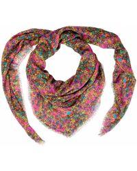 Cashmere Silk Scarf - White & red Fleur-de-lis by VIDA VIDA ORadar