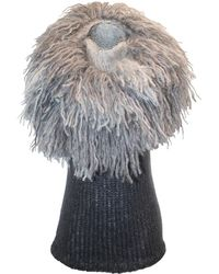 Claire Andrew - Fringed Mane Knit Vest - Lyst
