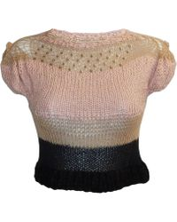 Claire Andrew - Cropped Knit Top With Swarovski Embellishment - Lyst