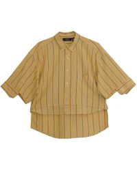 W.Y.L.D.E. Paris - Stripe Yellow Shirt - Lyst