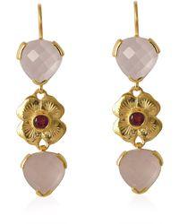 Emma Chapman Jewels - Elara Rose Quartz Pink Tourmaline Dangle Earrings - Lyst