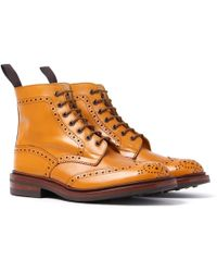 Tricker's - Tricker's Stow Acorn Antique Brogue Derby Country Boots - Lyst