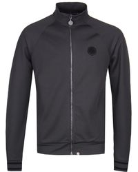 Pretty Green - Zip Through Grey Track Top - Lyst