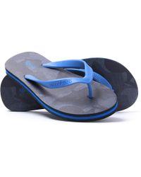 Armani Jeans - Camouflage Blue Flip Flops - Lyst