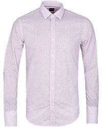 BOSS - Pink Ronni Shirt - Lyst