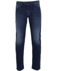 Emporio Armani - Mid Blue Denim Wash J06 Slim Fit Jeans - Lyst