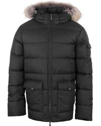 Pyrenex | Authentic Matte Black Padded Hooded Jacket | Lyst