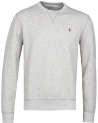 Polo Ralph Lauren - Light Grey Marl Crew Neck Jumper - Lyst