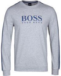 BOSS by Hugo Boss - Grey Marl Authentic Sweatshirt - Lyst