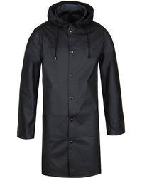 Stutterheim - Goteborg Black Raincoat - Lyst