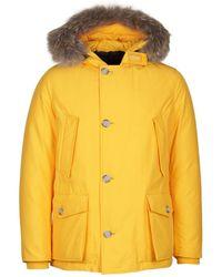 Woolrich - Mustard Yellow Arctic Anorak - Lyst