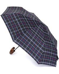 Barbour - Tartan Telescopic Umbrella - Lyst