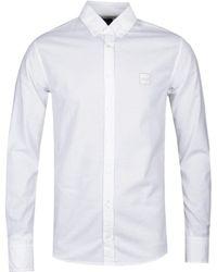 BOSS by Hugo Boss - Boss Mabsoot Slim Fit White Oxford Shirt - Lyst