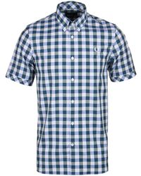 Fred Perry - Ivy Bold Gingham Cotton Short Sleeve Shirt - Lyst