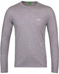 BOSS Green - Togn Grey Marl Long Sleeve T-shirt - Lyst