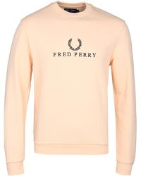 Fred Perry - Apricot Ice Embroidered Sweatshirt - Lyst