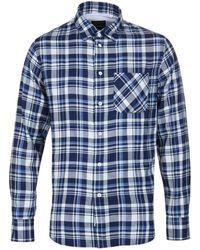 Rag & Bone - Beach Indigo Plaid Shirt - Lyst