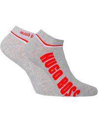 BOSS by Hugo Boss - Grey Double Pack Low-cut Sport Socks - Lyst