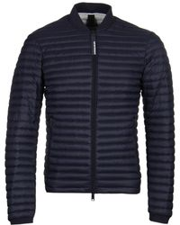 Emporio Armani - Navy Lightweight Padded Bomber - Lyst