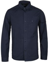 Barbour - Navy Camber Button Through Overshirt - Lyst