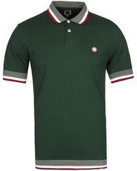 Pretty Green - Fairbrook Polo T Shirt Green - Lyst